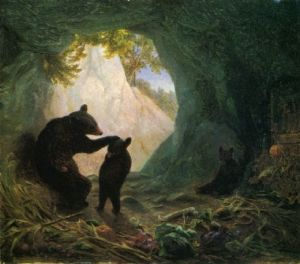 William Holbrook - Beard bear and cubs